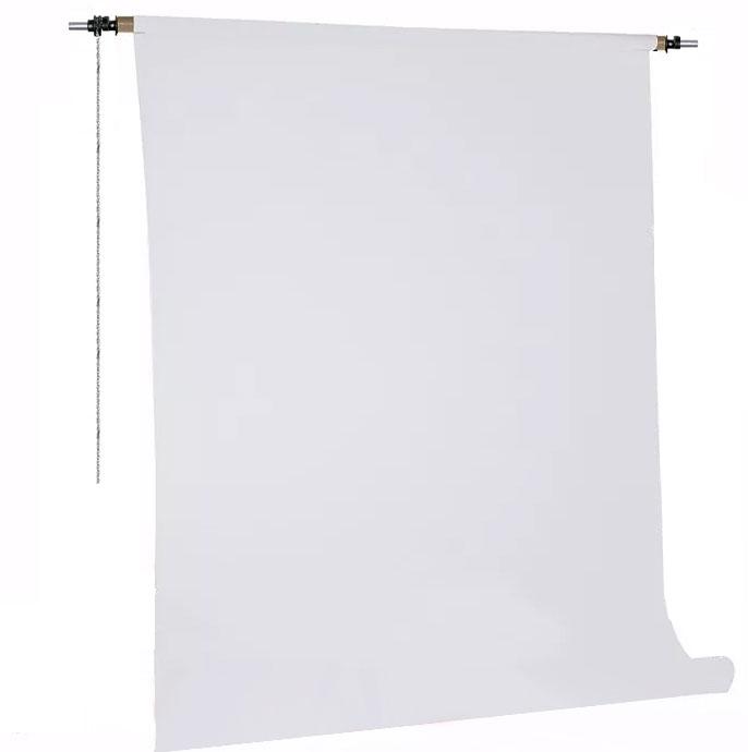 Kit Fundo Infinito Fotográfico de Papel Super Branco 10,0x2,40m com Suporte Fixo  - Diafilme Materiais Fotográficos