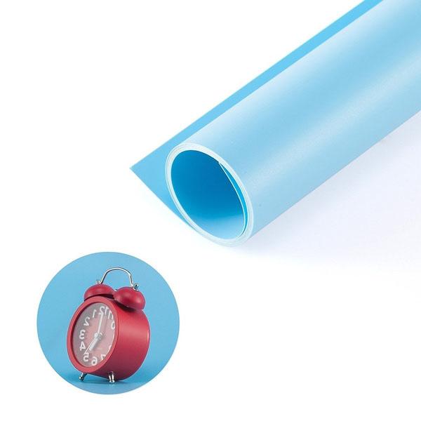 Kit Fundo Infinito Fotografico Backdrop de PVC com Suporte - Azul - 100x200 cm  - Diafilme Materiais Fotográficos