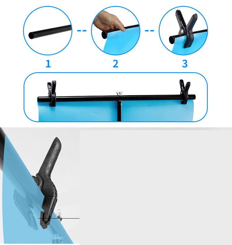Kit Fundo Infinito Fotografico Backdrop de PVC com Suporte - Cinza - 100x200 cm  - Diafilme Materiais Fotográficos