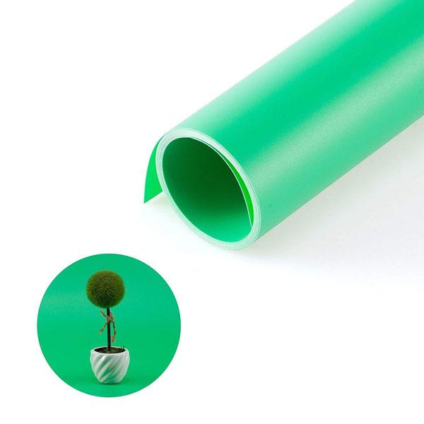 Kit Fundo Infinito Fotografico Backdrop de PVC com Suporte - Verde - 100x200 cm  - Diafilme Materiais Fotográficos