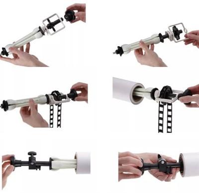 Kit Fundo Infinito Fotográfico de Papel Super Branco 2,40x10m com Suporte Fixo Expan  - Diafilme Materiais Fotográficos
