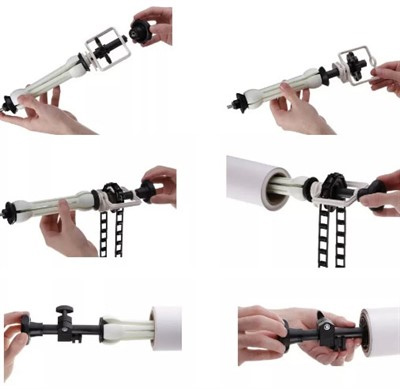 Kit Fundo Infinito Fotográfico de Papel Super Branco 2,70x11m com Suporte Fixo Expan  - Diafilme Materiais Fotográficos