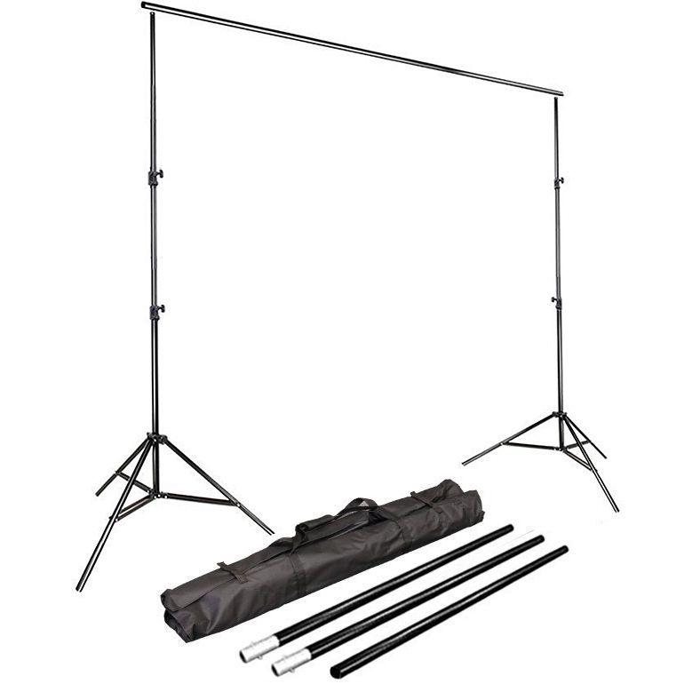 Kit Fundo Infinito Movel B2530 com Fundo Muslin Preto 3,0x6,0m  - Diafilme Materiais Fotográficos