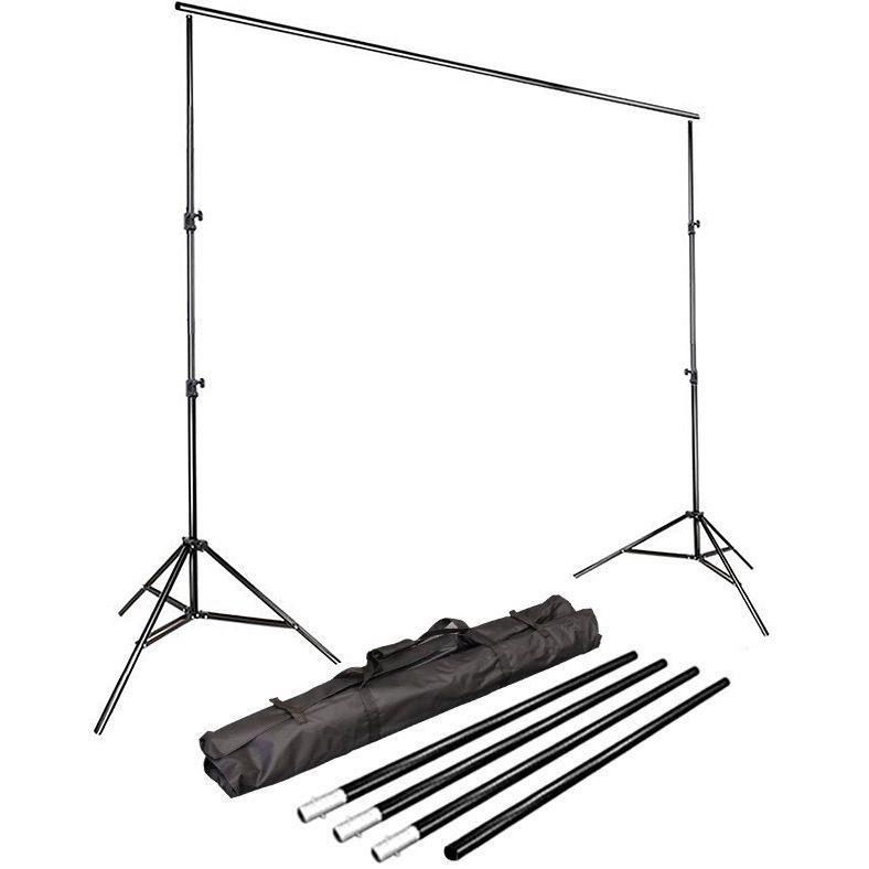 Kit Fundo Infinito Movel 2,50m com Fundo Muslin Verde 1,8x2,8m  - Diafilme Materiais Fotográficos