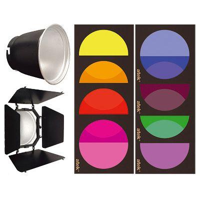 Kit gel Atek para flash de estúdio  - Diafilme Materiais Fotográficos
