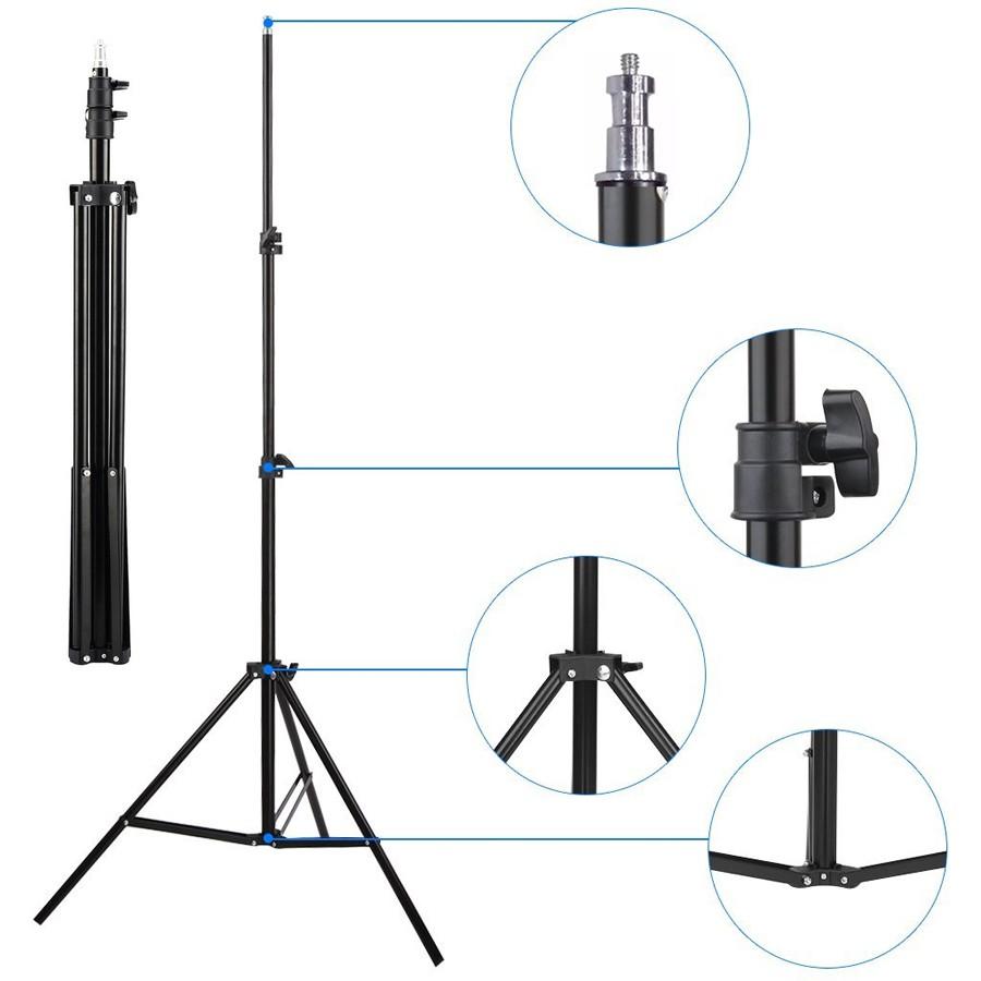 Kit Iluminação Estúdio 2x60W com Softbox 60x60 Tubo Base E27 e Tripé  - Diafilme Materiais Fotográficos