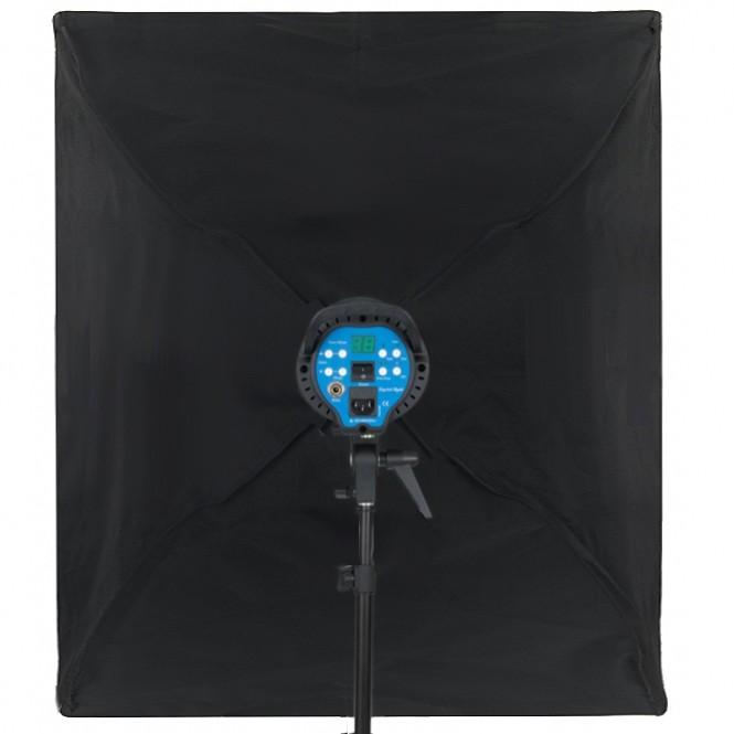 Kit Iluminação Estúdio 2x Softbox 60x60 Tubo Base E27 com Tripé  - Diafilme Materiais Fotográficos