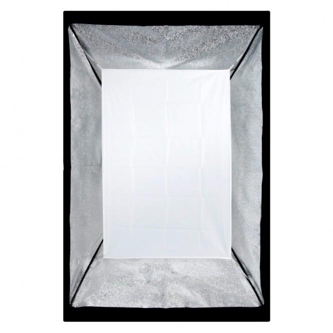 Kit Iluminação Estúdio 4x60W com Softbox 80x120 Tubo Base E27 e Tripé  - Diafilme Materiais Fotográficos
