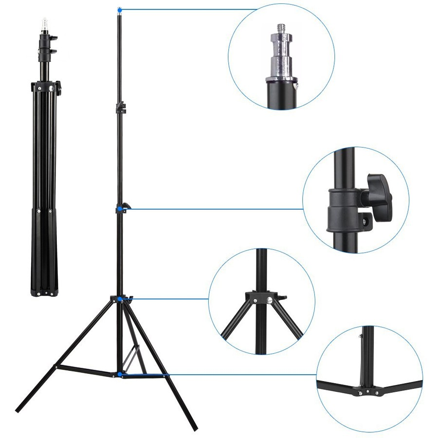 Kit Iluminação Estúdio 60W com Softbox 60x60 Tubo Base E27 e Tripé  - Diafilme Materiais Fotográficos