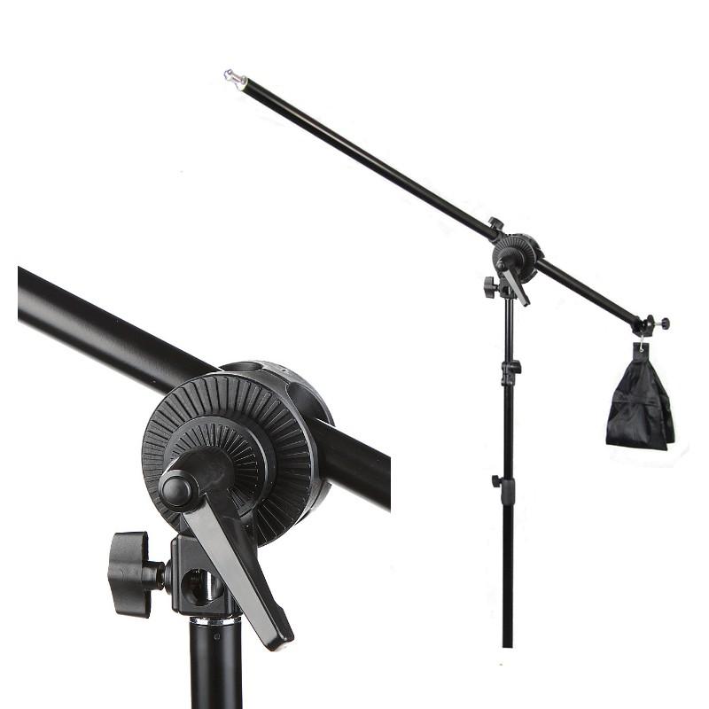 Kit Iluminação Estúdio Led 60W Softbox 60x60 com Girafa  - Diafilme Materiais Fotográficos
