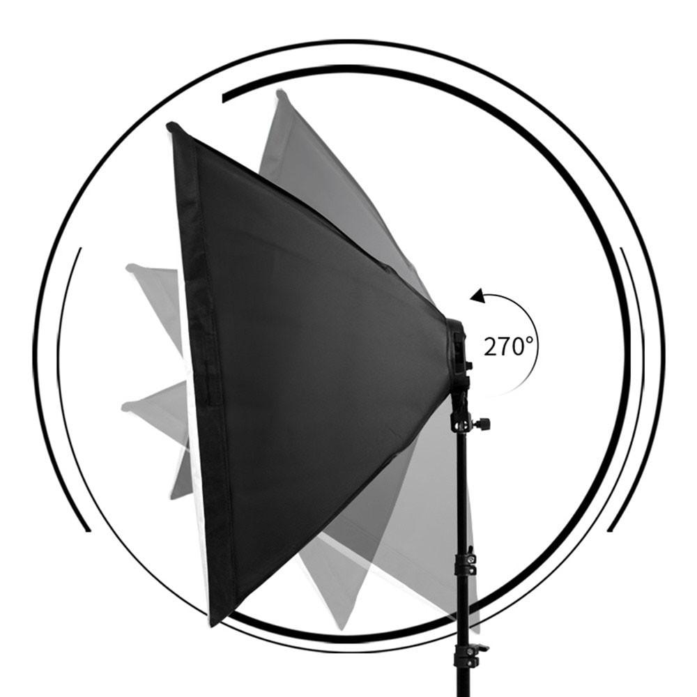 Kit Iluminação Estúdio LED 8x28W Softbox Quad ES470 50x70 com Tripé  - Diafilme Materiais Fotográficos