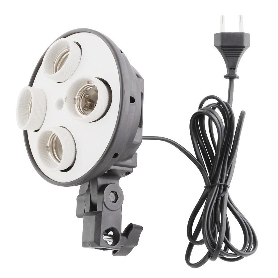 Kit Iluminação Estúdio LED 8x28W Softbox Quad ES470 60x80 Tripé Bag  - Diafilme Materiais Fotográficos