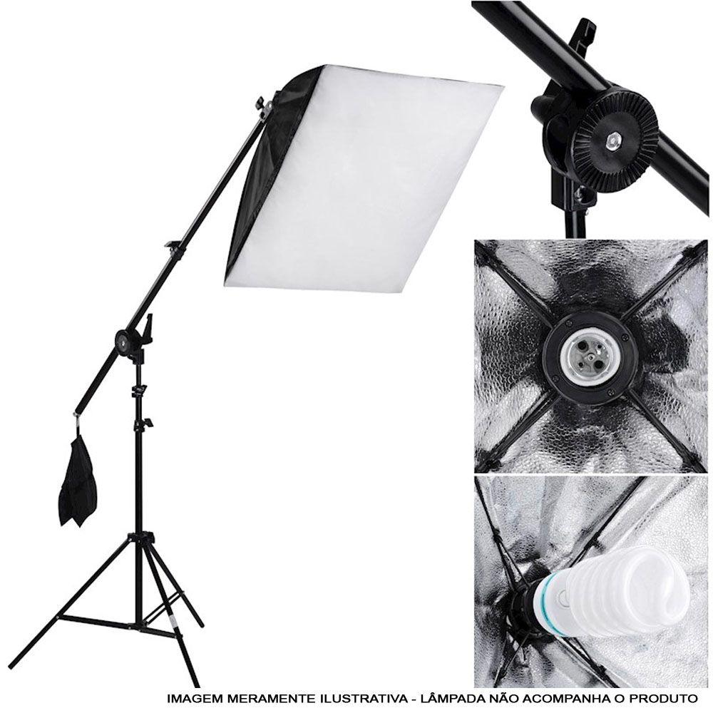 Kit Iluminação Estúdio Softbox 40x60 com Girafa  - Diafilme Materiais Fotográficos