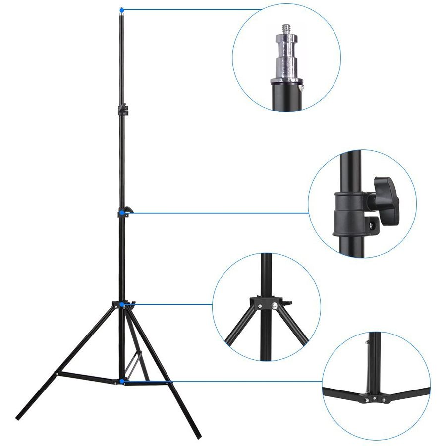 Kit Iluminação Estúdio Softbox E27 40x60 com Girafa  - Diafilme Materiais Fotográficos