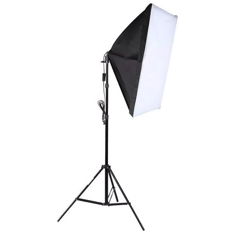 Kit Iluminação Estúdio Softbox E27 50x70 com Tripé  - Diafilme Materiais Fotográficos