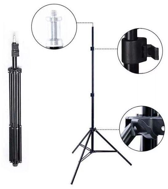 Kit Iluminação Estúdio Softbox E27 50x70cm com Tripé  - Diafilme Materiais Fotográficos
