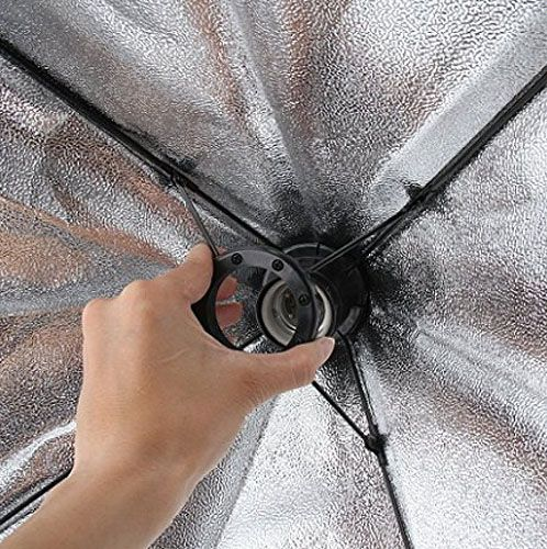 Kit Iluminação Estúdio Softbox E27 Octo 70cm com Tripé  - Diafilme Materiais Fotográficos