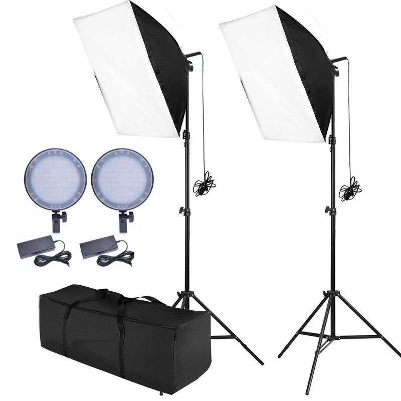 Kit Iluminacao Estudio Softbox Led Light 50x70 - 168 Leds Ajuste Potência  - Diafilme Materiais Fotográficos