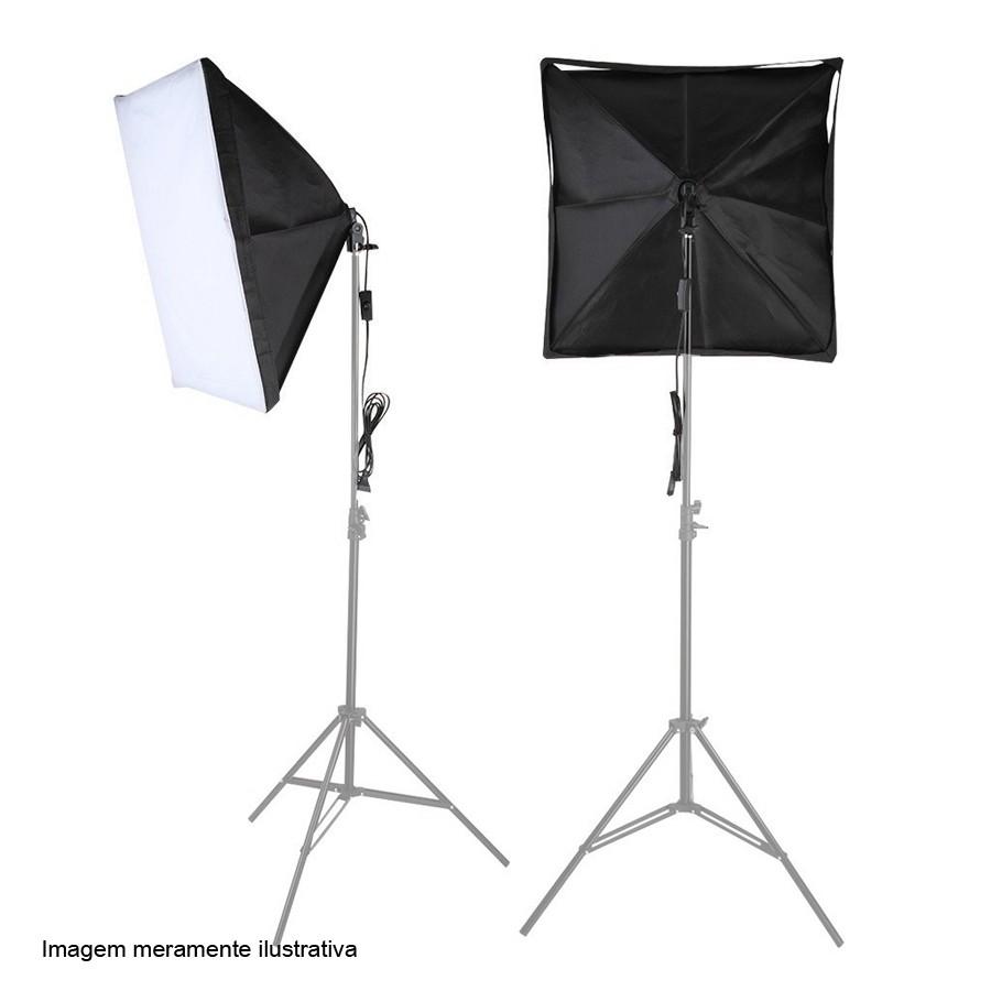 Kit Iluminação Estúdio - Softbox Light 40x60 135W - SA4060  - Diafilme Materiais Fotográficos