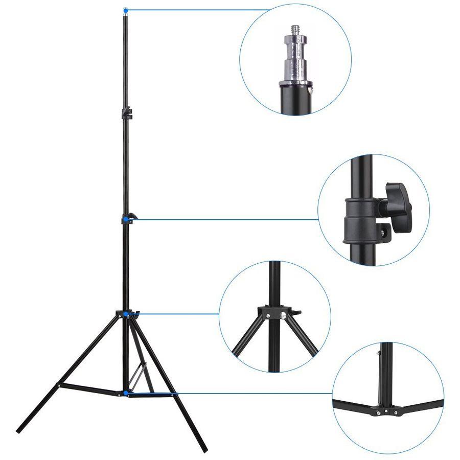 Kit Iluminação Estúdio - Softbox Light 60x60  2x135W  - Diafilme Materiais Fotográficos