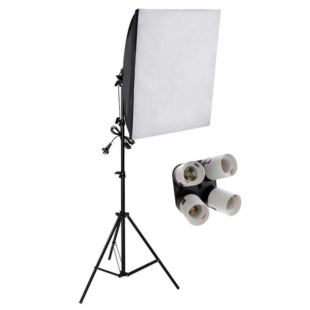 Kit Iluminação Estúdio Softbox Quad 50x70cm com Tripé  - Diafilme Materiais Fotográficos