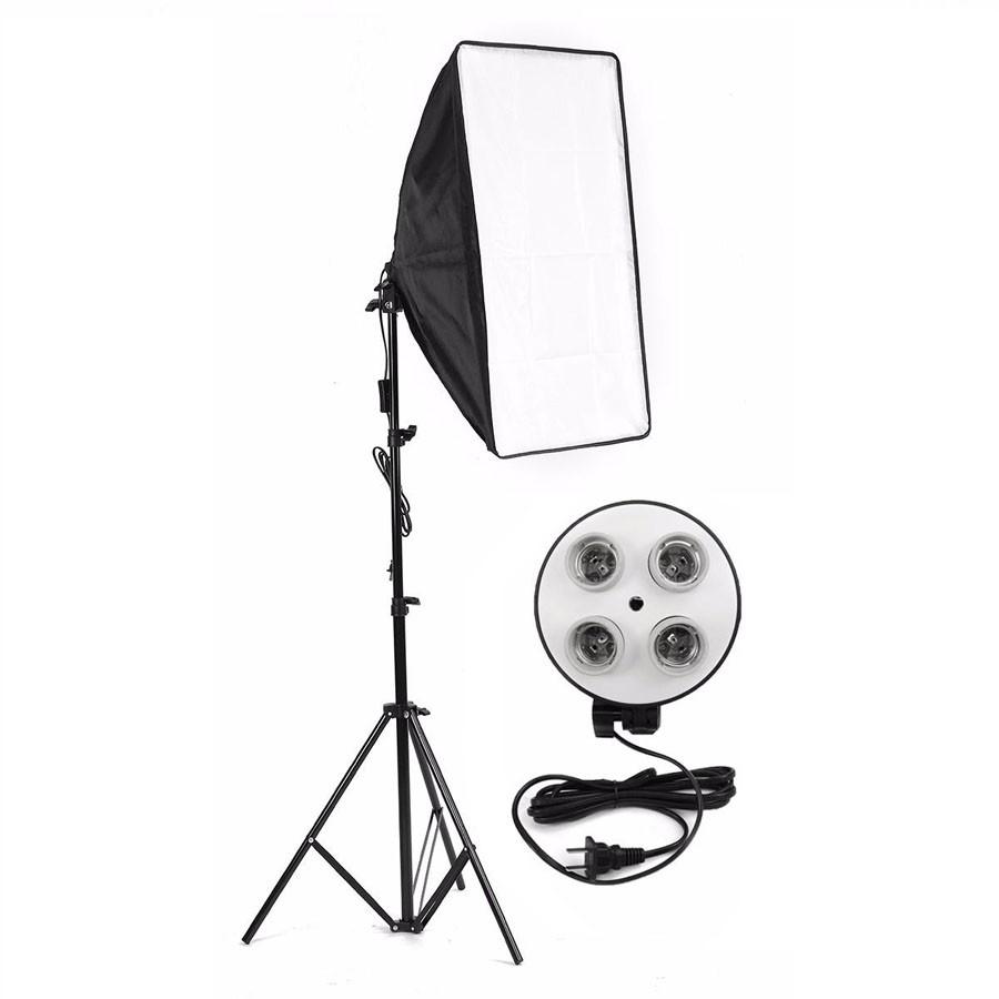 Kit Iluminação Estúdio Softbox Quad ES470 50x70 com Tripé  - Diafilme Materiais Fotográficos