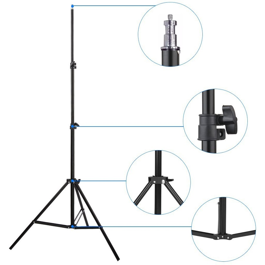 Kit Iluminação Estúdio Softbox Quad ES470 50x70 Tripé  - Diafilme Materiais Fotográficos