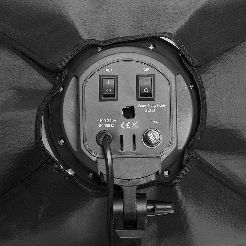 Kit Iluminação Estúdio Softbox Quad ES470 60x80 Tripé  - Diafilme Materiais Fotográficos