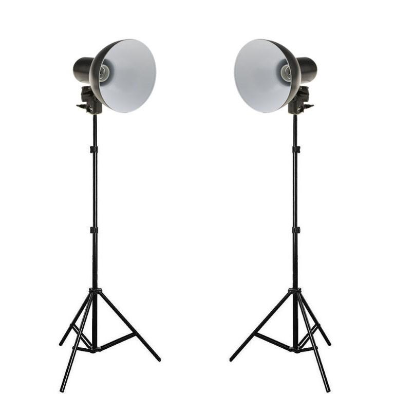 Kit Iluminador Foto e Vídeo Refletor 2x FV414 com Tripé 2m  - Diafilme Materiais Fotográficos