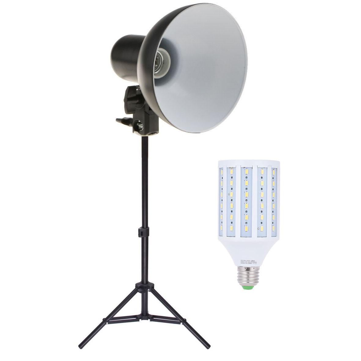 Kit Iluminador Foto e Vídeo Refletor FV414 28W com Tripé 75cm  - Diafilme Materiais Fotográficos