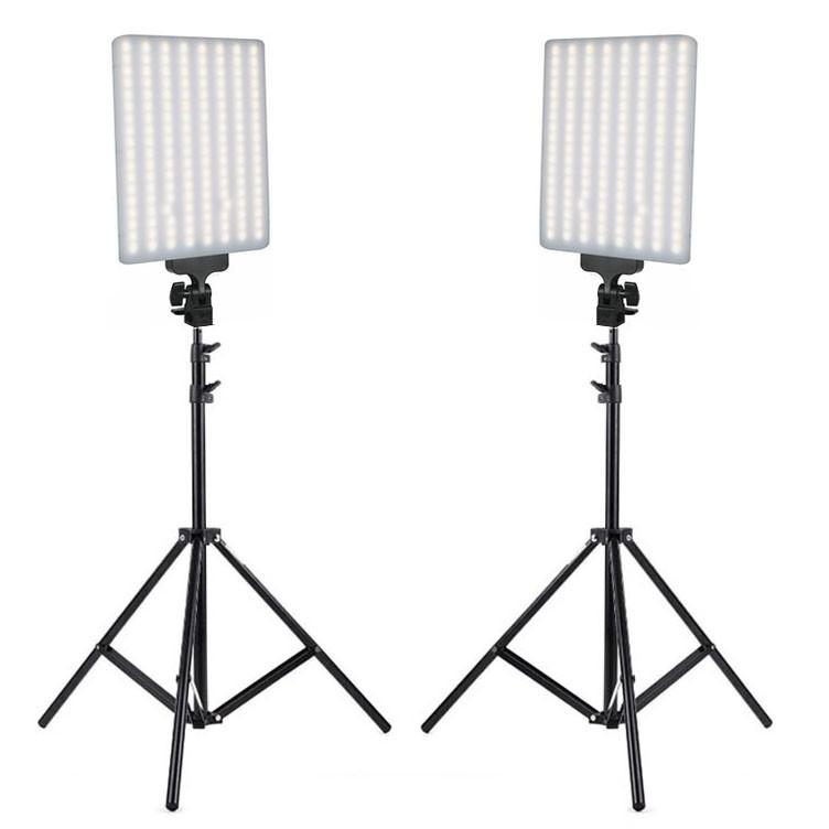 Kit Iluminador Led Panel LD530C - 2x 30W 288Leds com Tripé LS260  - Diafilme Materiais Fotográficos