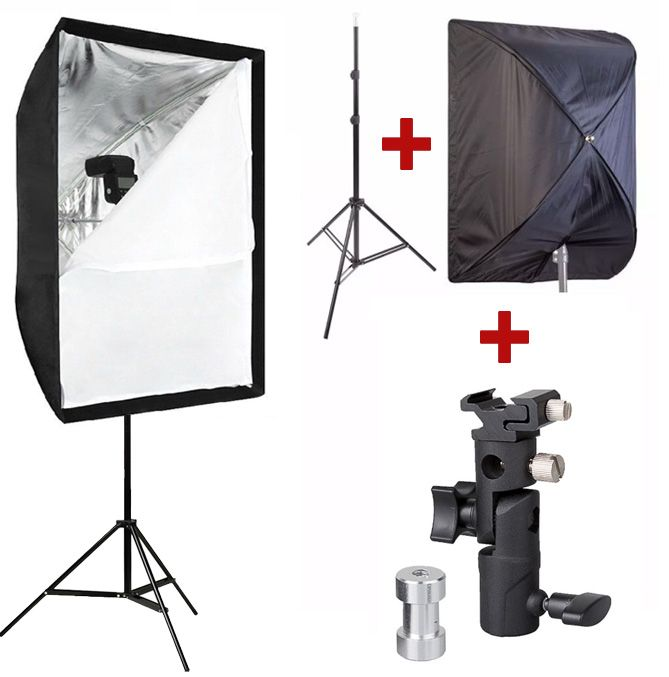 Kit Flash Speedlight - Tripé Softbox 60x90 e Suporte 1033C  - Diafilme Materiais Fotográficos