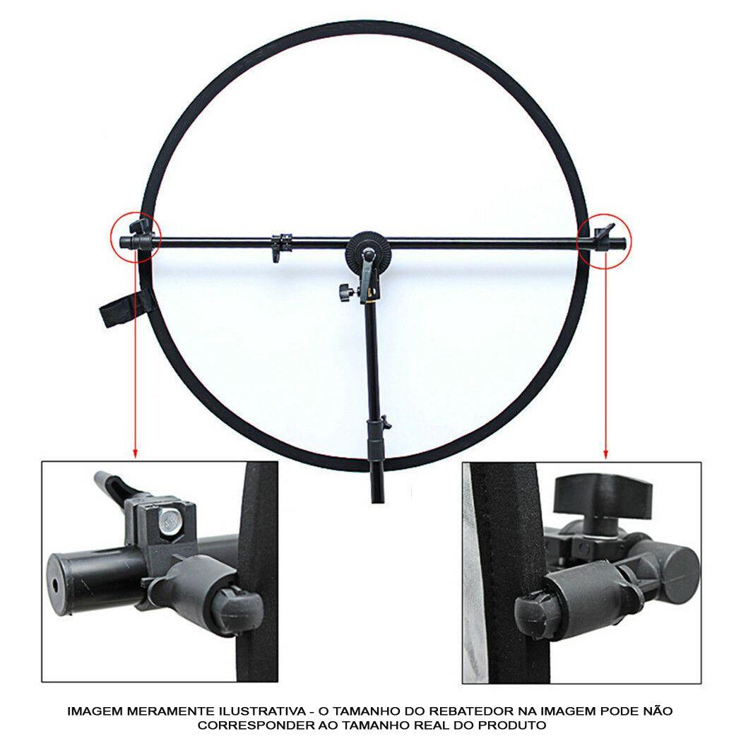 Kit Rebatedor Difusor Circular 5x1 105cm Haste LRH01 e Tripé  - Diafilme Materiais Fotográficos
