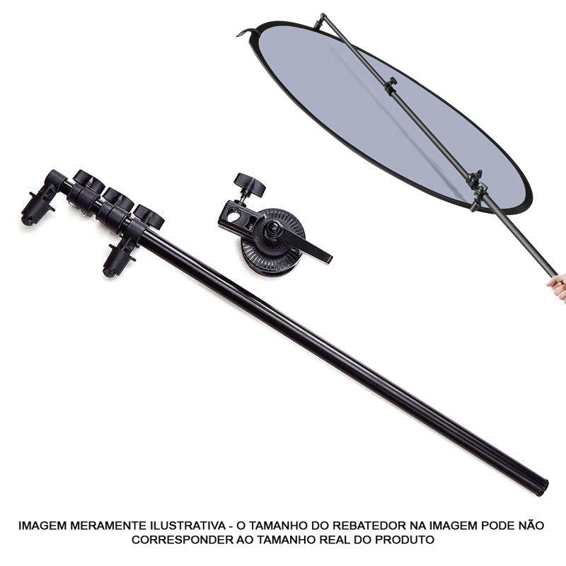 Kit Rebatedor Difusor Oval 5x1 100X150cm Haste LRH01 e Tripé  - Diafilme Materiais Fotográficos