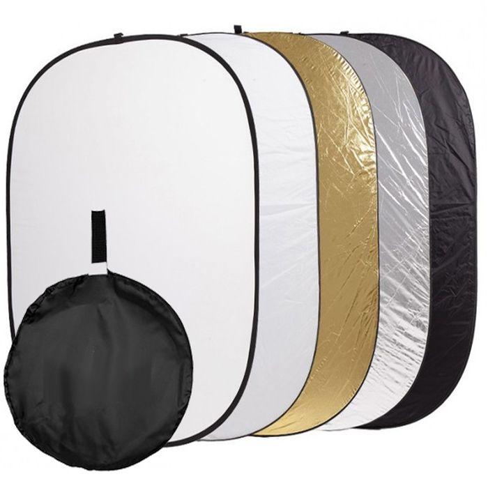 Kit Rebatedor Difusor Oval 5x1 120x180cm Garra LS42 e Tripé  - Diafilme Materiais Fotográficos