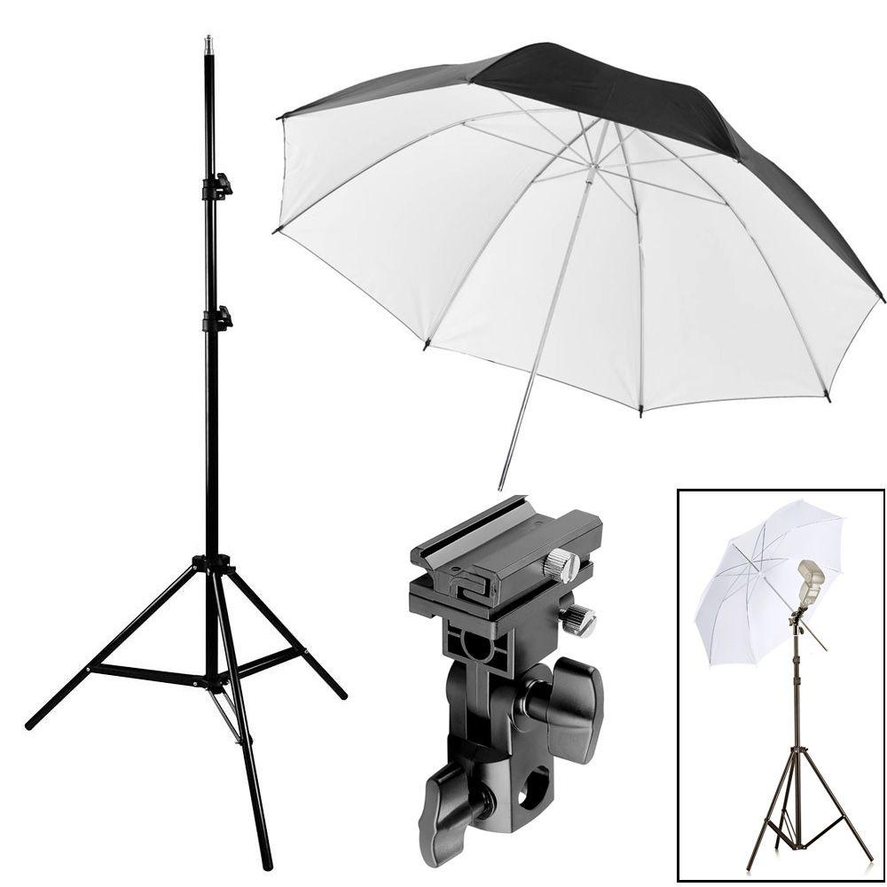 Kit Flash Speedlight - Tripe  Sombrinha Dif Rebat Suporte Ls27  - Diafilme Materiais Fotográficos