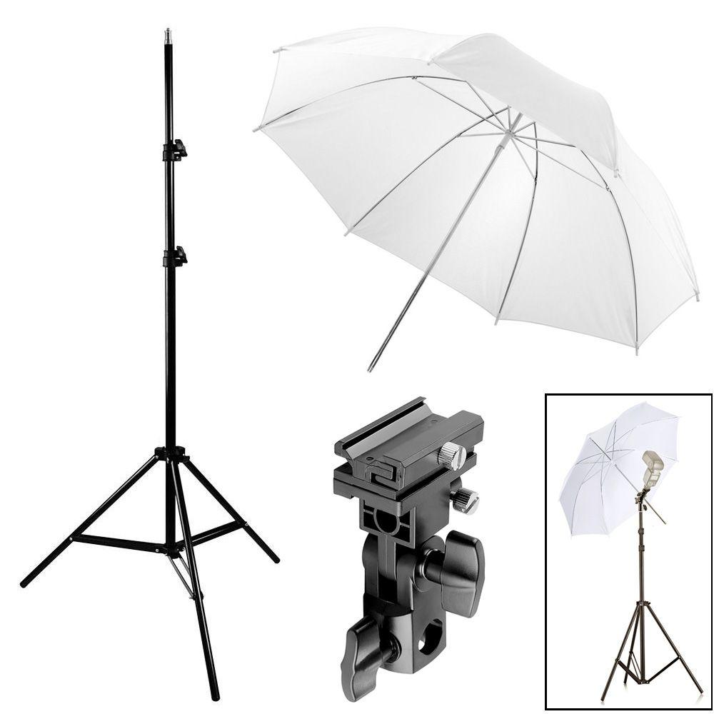Kit Flash Speedlight - Tripe  Sombrinha Difusora Suporte Ls27  - Diafilme Materiais Fotográficos