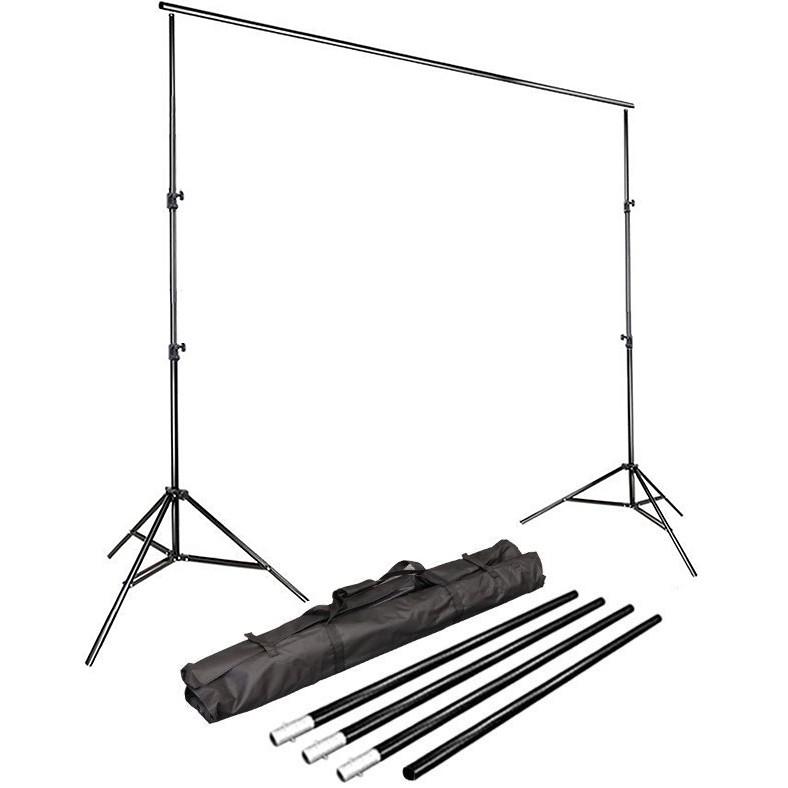 Kit Fundo Infinito Movel 2,50m com Fundo Muslin Preto 3,0x6,0m  - Diafilme Materiais Fotográficos
