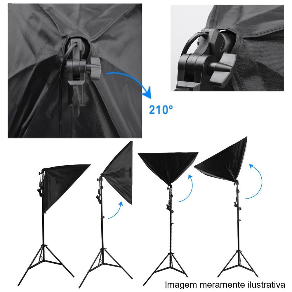 Kit Youtuber LED 120W Softbox 40x60 Tripé Tablet SP14  - Diafilme Materiais Fotográficos