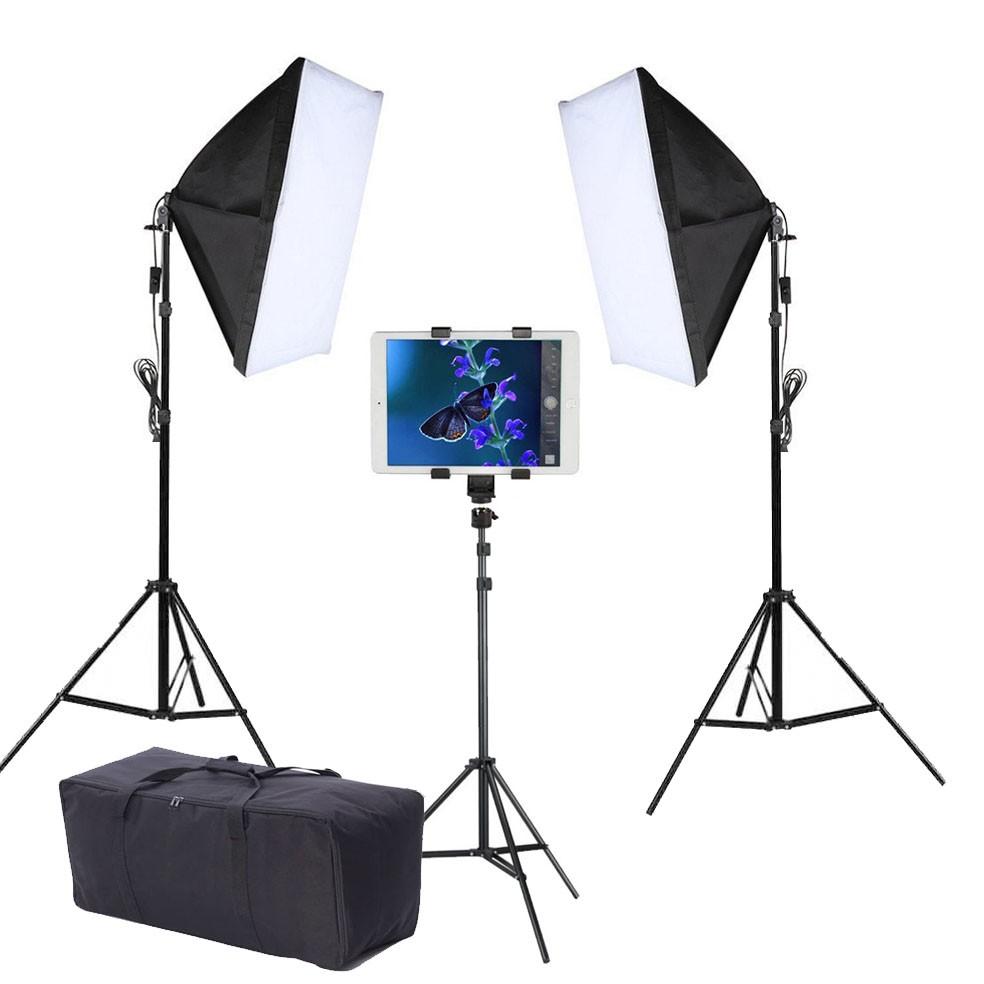 Kit Youtuber LED 120W Softbox 40x60 Tripé Tablet SP14 Bag  - Diafilme Materiais Fotográficos