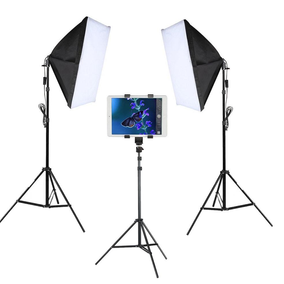 Kit Youtuber LED 120W Softbox 50x70 Tripé Tablet SP14  - Diafilme Materiais Fotográficos