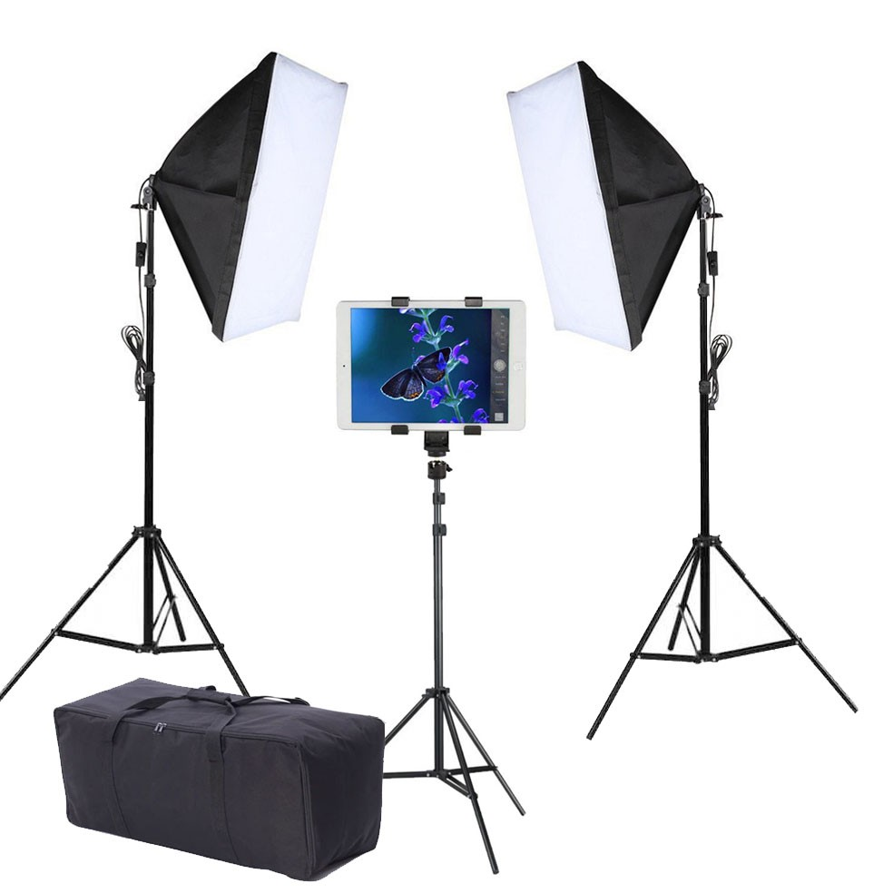 Kit Youtuber LED 120W Softbox 50x70 Tripé Tablet SP14 Bag  - Diafilme Materiais Fotográficos