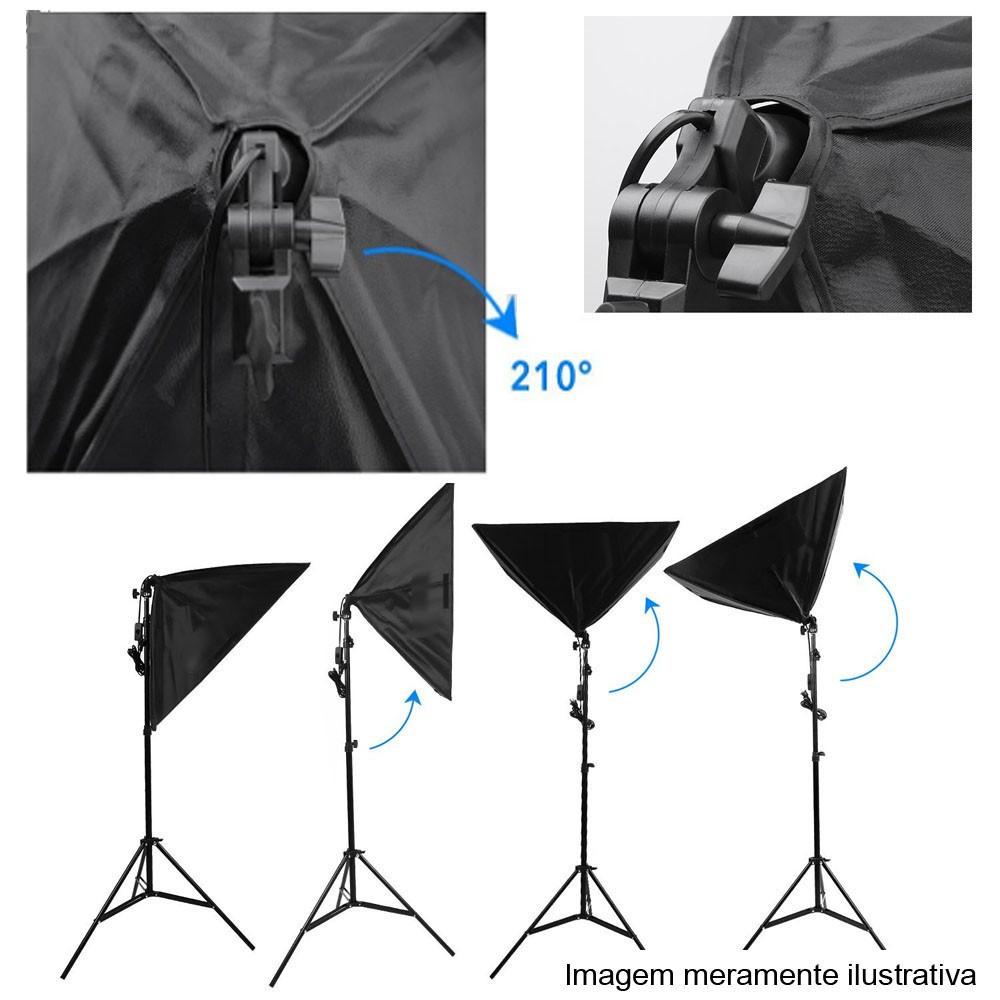 Kit Youtuber LED 120W Softbox 60x60 Tripé Tablet SP14  - Diafilme Materiais Fotográficos