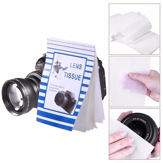 Lenço de Papel para Limpeza de Objetivas DSLR 50F  - Diafilme Materiais Fotográficos