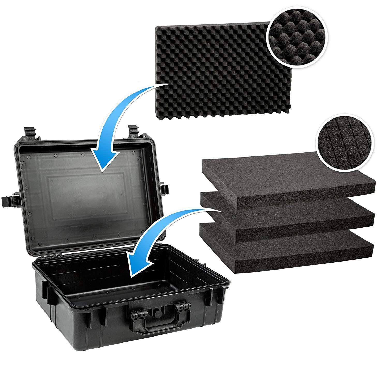 Mala Rigida DSLR - CaseONE YF5040B Foam com Kit de Limpeza EC01   - Diafilme Materiais Fotográficos