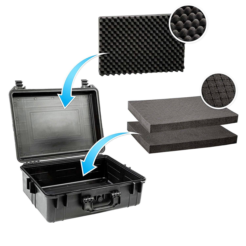 Mala Rigida DSLR - CaseONE YF2133 Foam com Kit de Limpeza EC05  - Diafilme Materiais Fotográficos