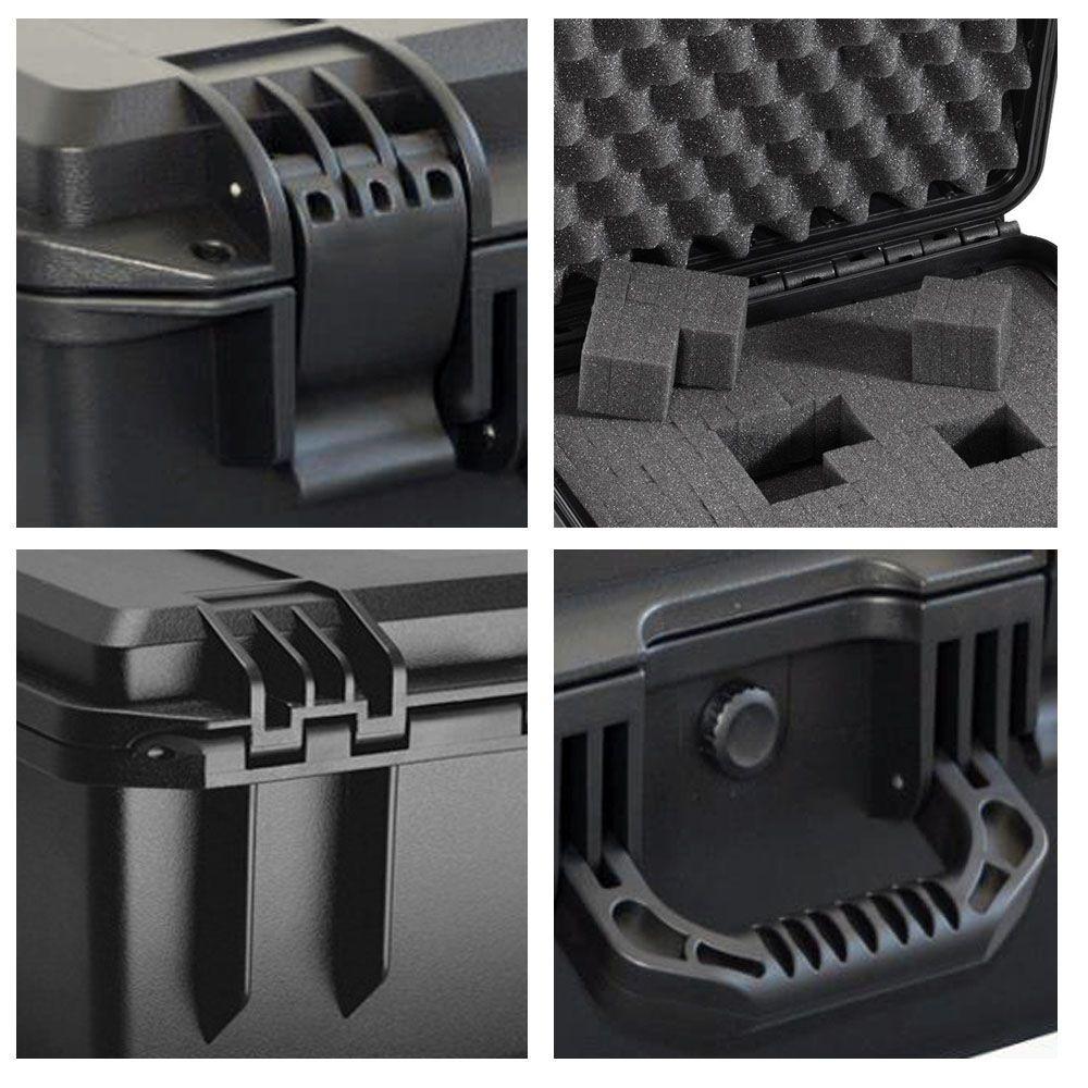 Mala Rigida DSLR - CaseONE YF2838H Foam com Kit de Limpeza EC01  - Diafilme Materiais Fotográficos