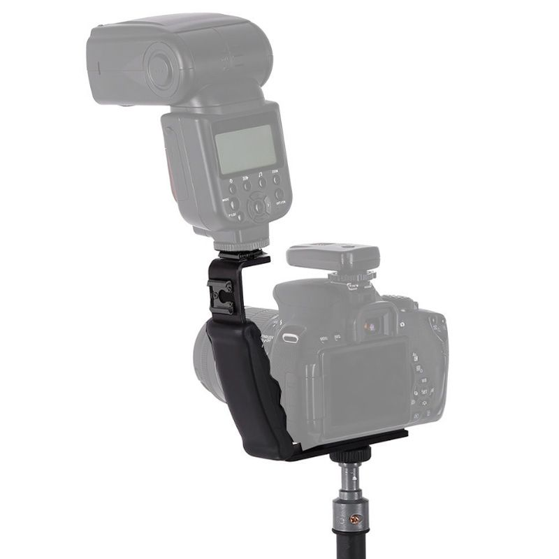 Manopla Flash Bracket com Sapata para Câmera DSLR - LS37  - Diafilme Materiais Fotográficos