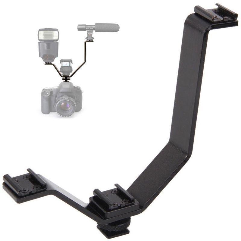 Manopla Flash Bracket com Sapata para Câmera DSLR - LS18  - Diafilme Materiais Fotográficos