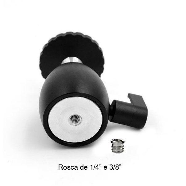 Mini Cabeça de Bola para Tripé TM10  - Diafilme Materiais Fotográficos